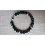 bracelet homme pierre lave basalte noir et inox tigre (2)