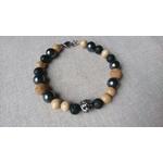 bracelet homme pierre lave basalte noir et inox tigre bois liège (2)