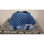lunchbag sac repas fleurs bleu