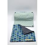 essuie tout lavable coton coquillage bleu (2)