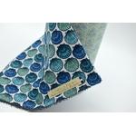 essuie tout lavable coton coquillage bleu (3)