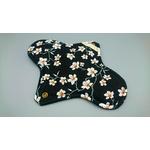 serviette hygienique nuit fleur noir