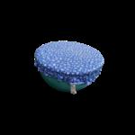 charlotte couvre plat saladier L fleuri bleu
