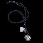 bola grossesse coeur rose perle
