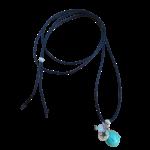 bola grossesse bleu turquoise perle
