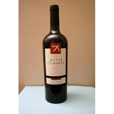 Vin rouge d'Argentine ALTAS CUMBRES MALBEC