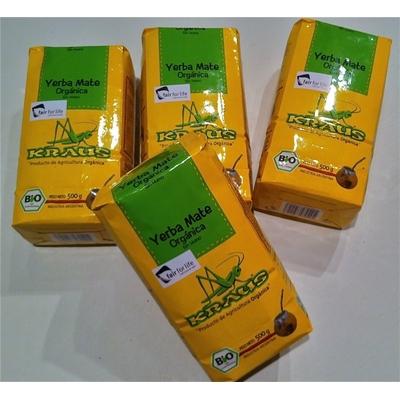 Pack de 4 paquets de Yerba Mate Biologica Kraus 500 g