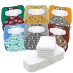 MAXI PACK 1  6 COUCHES LAVABLES  12 INSERTS