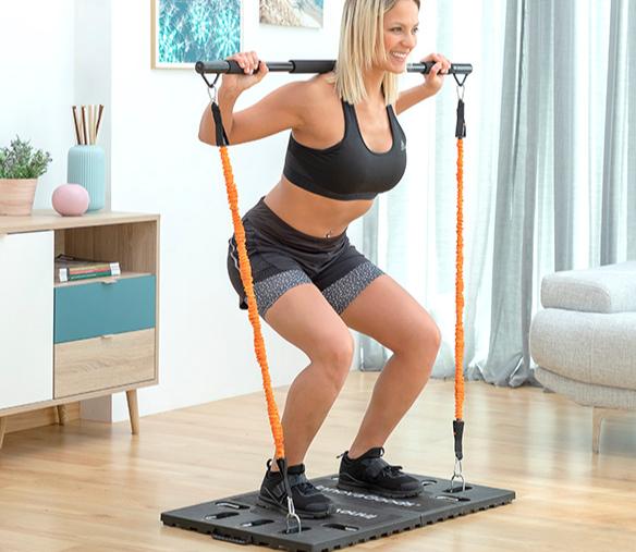 Système d\'entrainement complet portatif avec guide d\'exercices