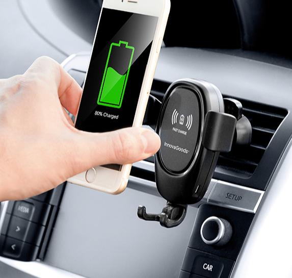Support pour téléphone portable avec chargeur de voiture sans fil