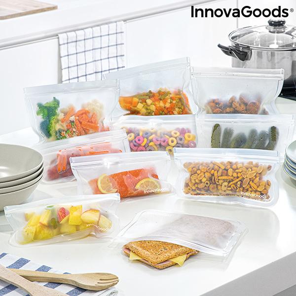 Ensemble de sacs alimentaires réutilisables (10 Pièces)