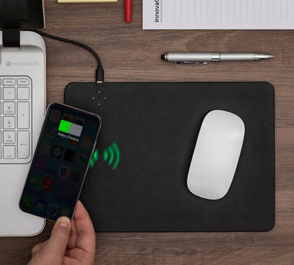 Tapis de Souris avec Chargeur de portable Sans Fil 2 sur 1