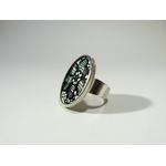 Lorna-bague dentelle ovale-belladone bijoux