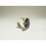 bague réglable ronde dentelle noire