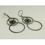 boucles d'oreilles anneaux entrelacés et engrenage