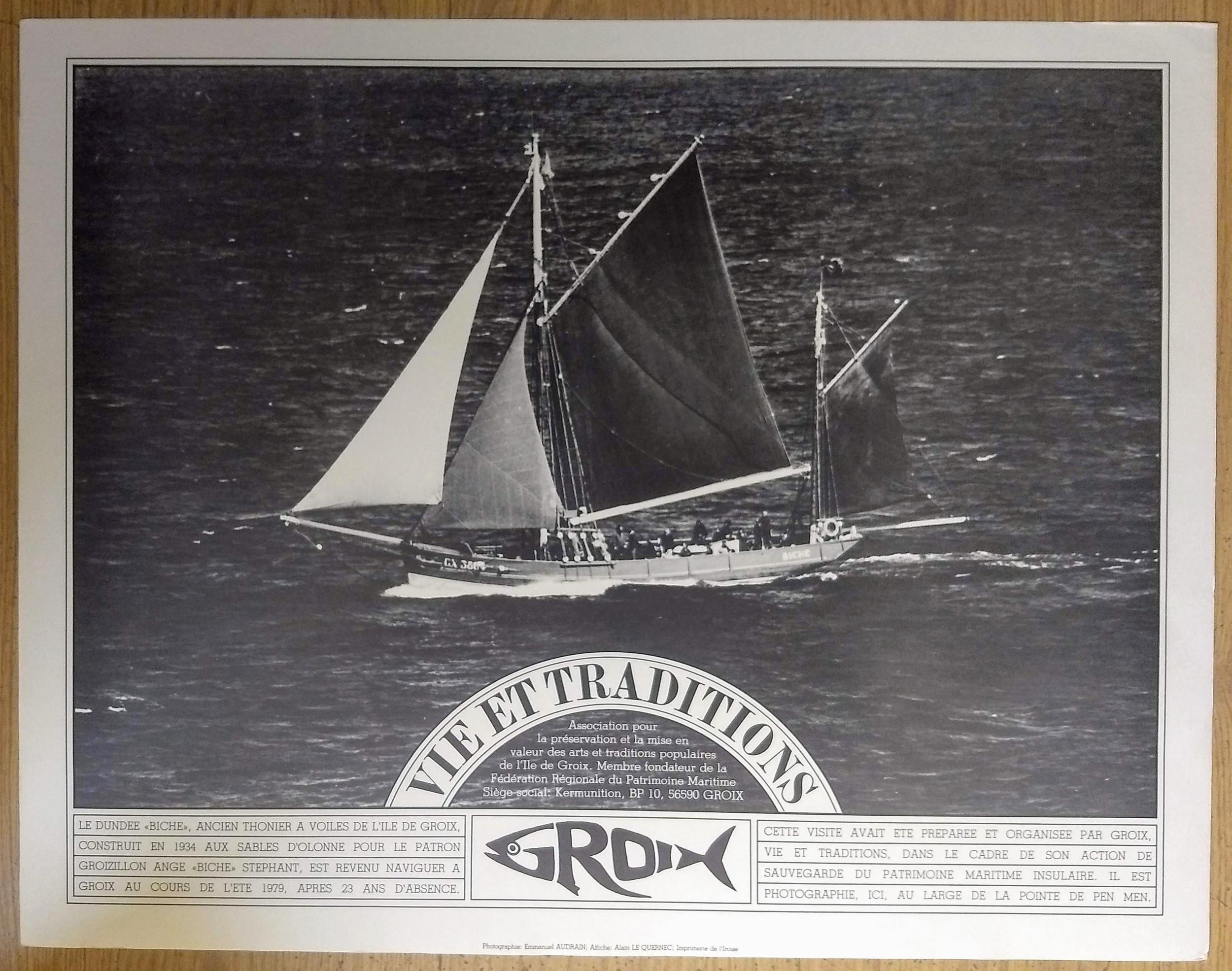 Affiche Groix, Vie et Traditions