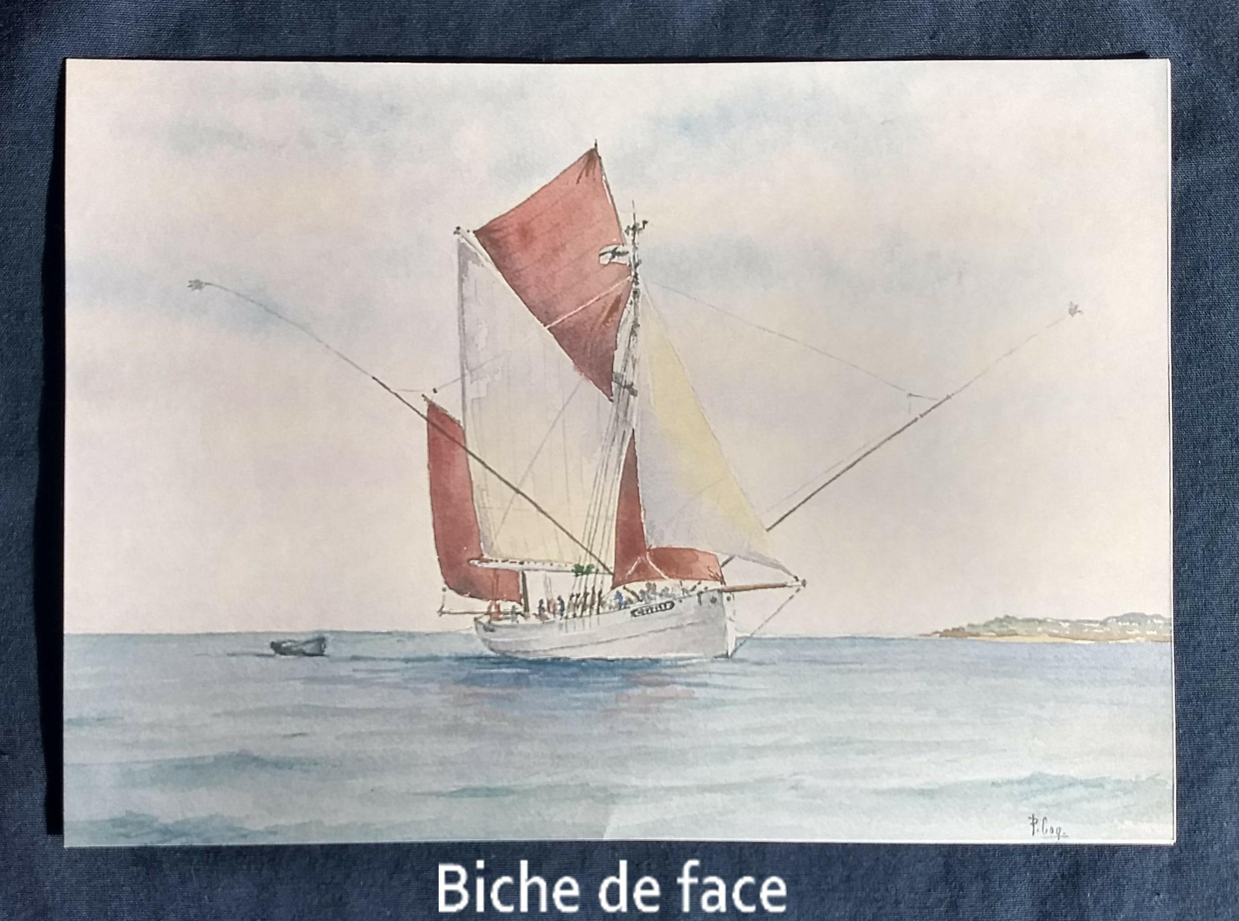 Aquarelle Biche de Pierre Coquillard