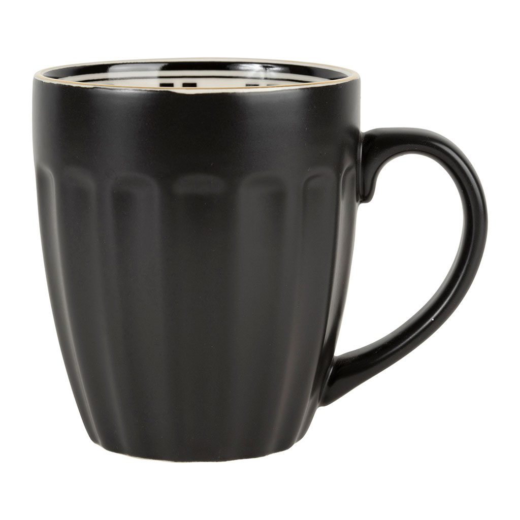 Mug porcelaine 35 cl Bistrot noir Comptoir de Famille