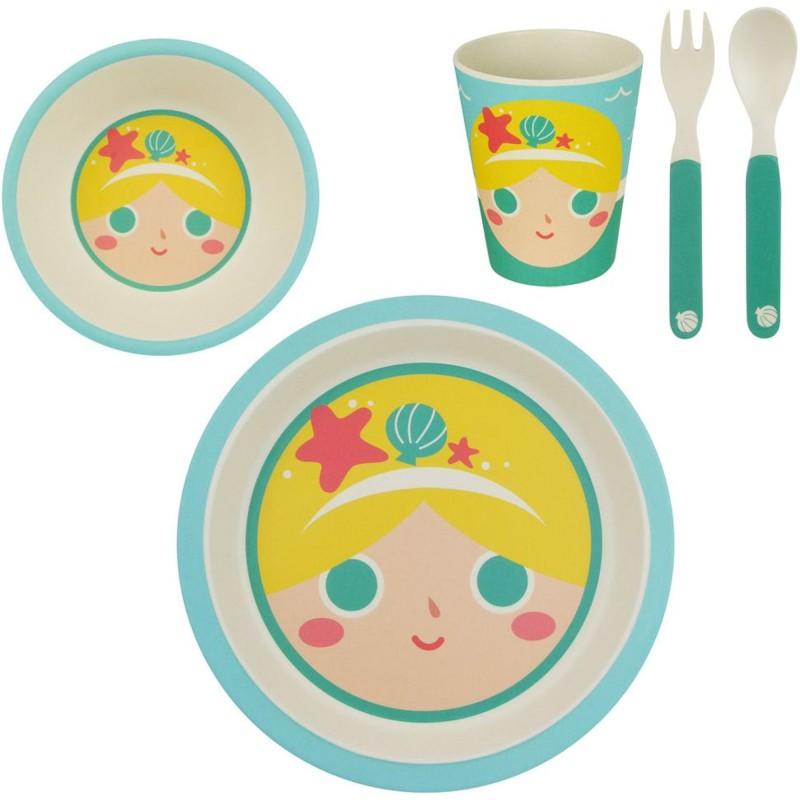 Set repas enfant Sirène BAMBOU