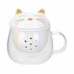 mug-en-verre-infuseur-chat-12cm-blanc