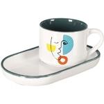 Mug-soucoupe-porcelaine-Arty-blanc