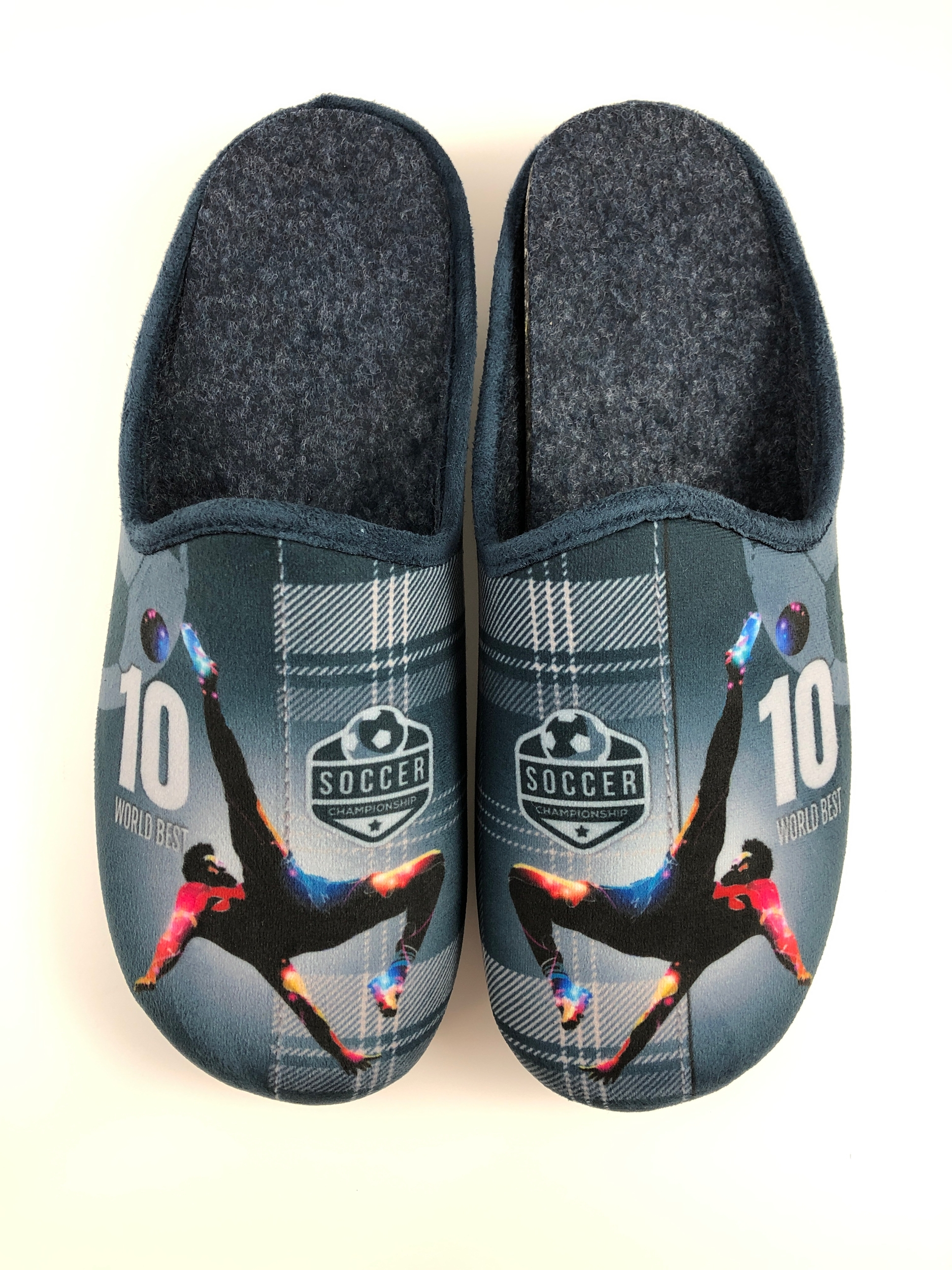 Mule  football marine pour homme