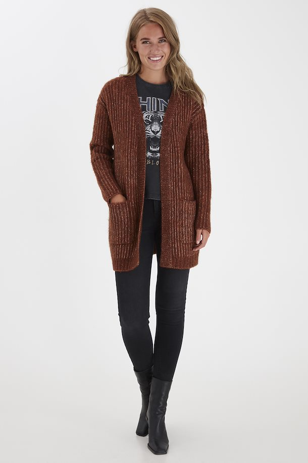 Gilet long rouille B.Young