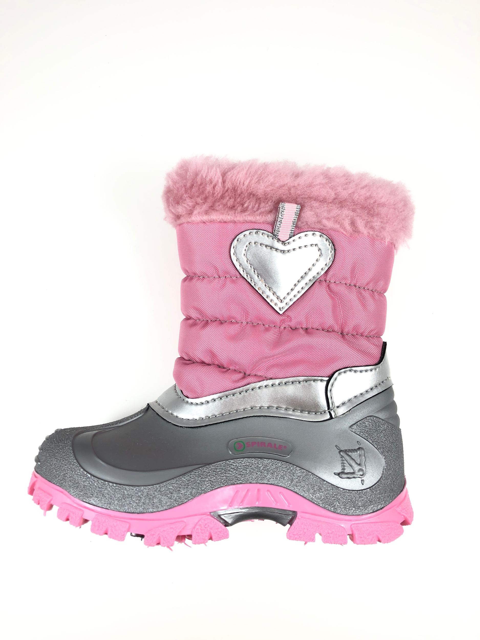 Bottes de neige roses coeur Vista