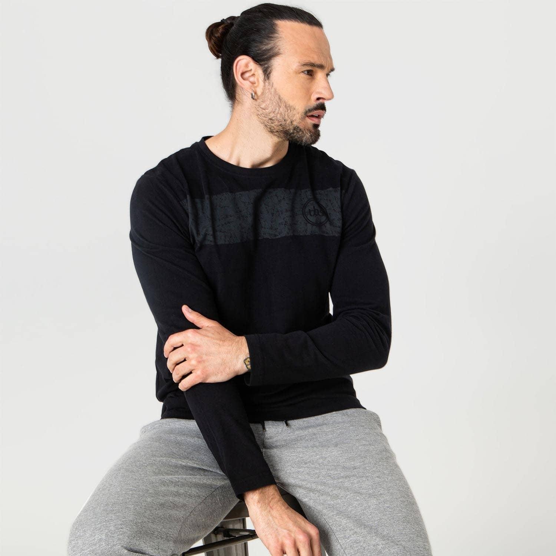 Tee-shirt manches longues noir TBS Lammytee