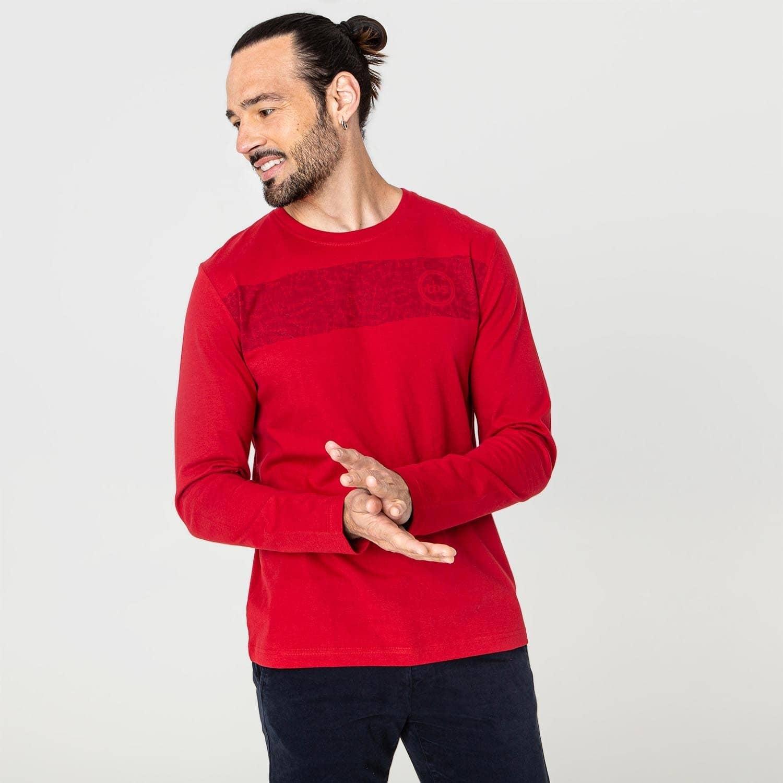 Tee-shirt manches longues rouge TBS Lammytee