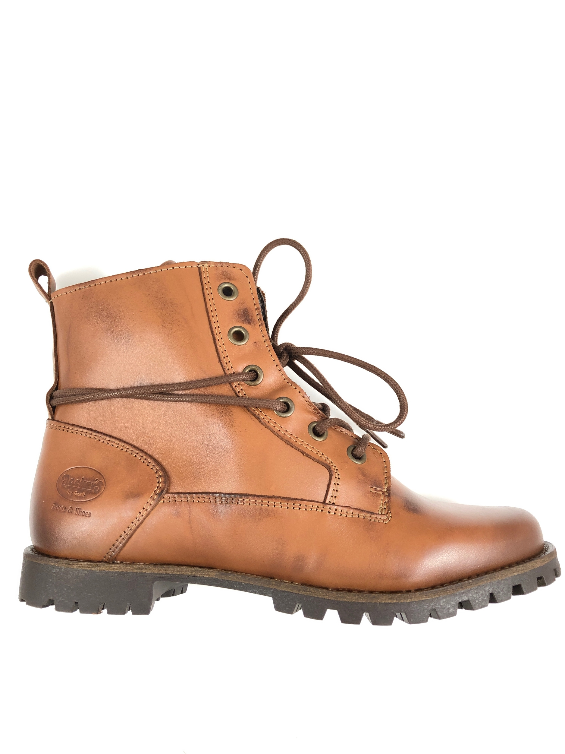 Bottines à lacets cuir cognac Dockers