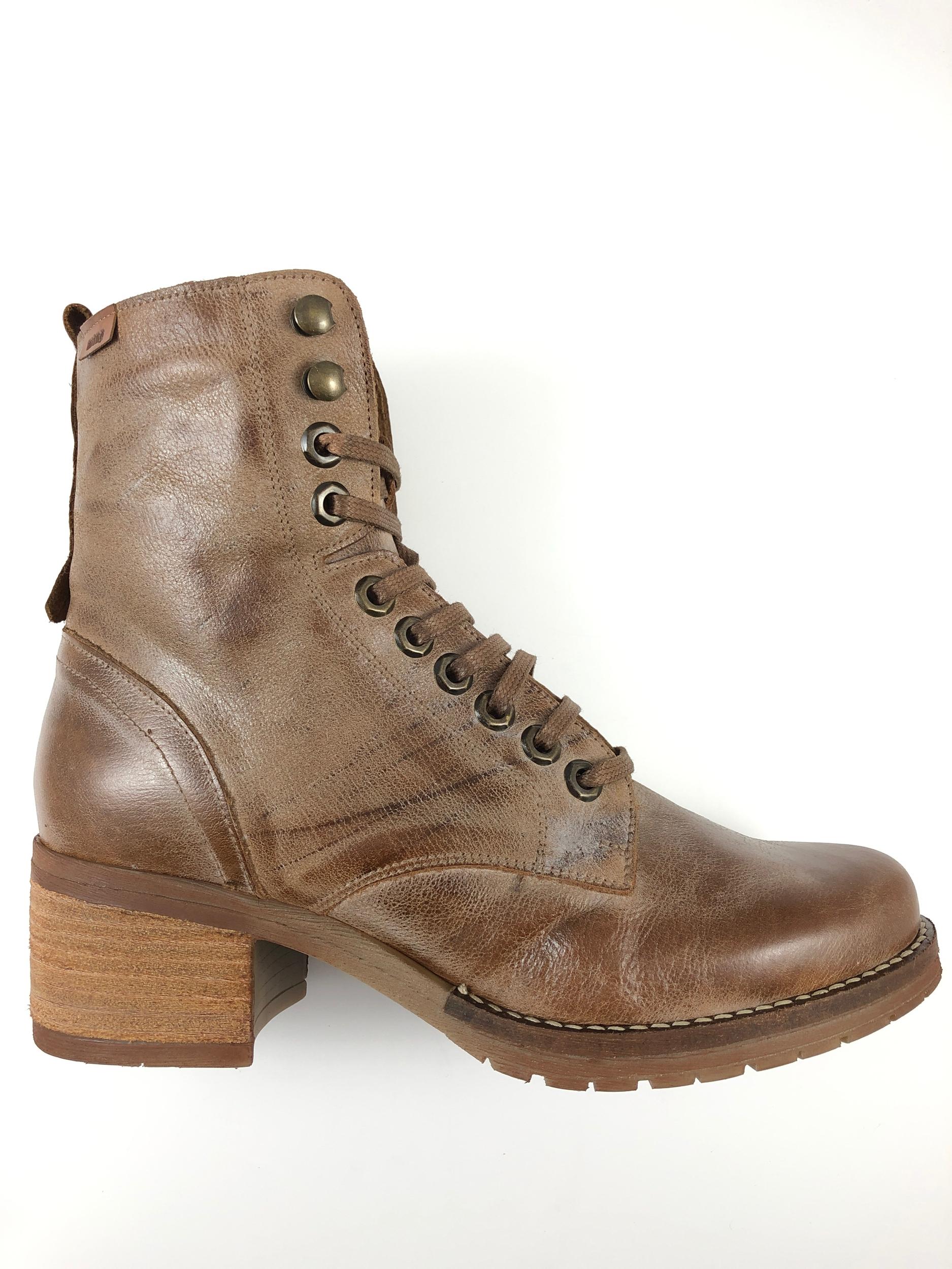 Boots à lacets en cuir MTNG