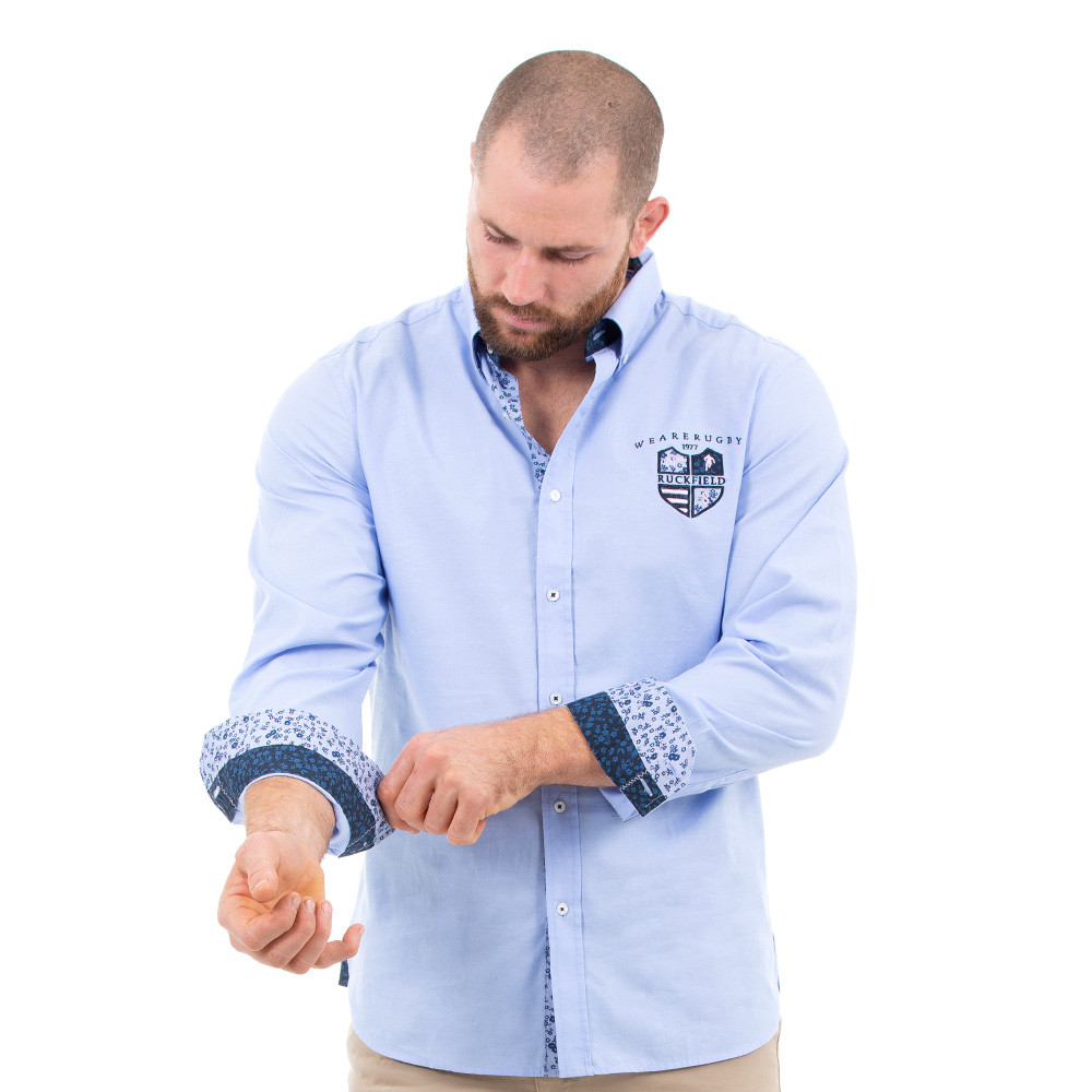 Chemise homme bleu rugby Ruckfield