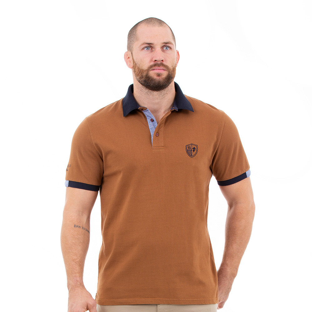 Polo rugby marron Ruckfield