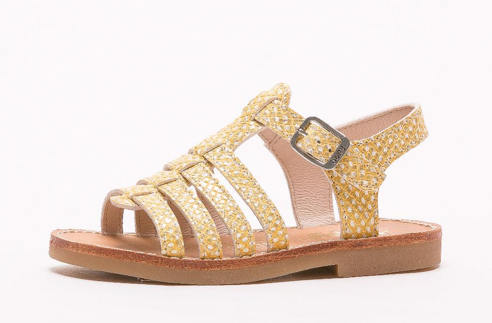 Sandale en cuir Elise jaune