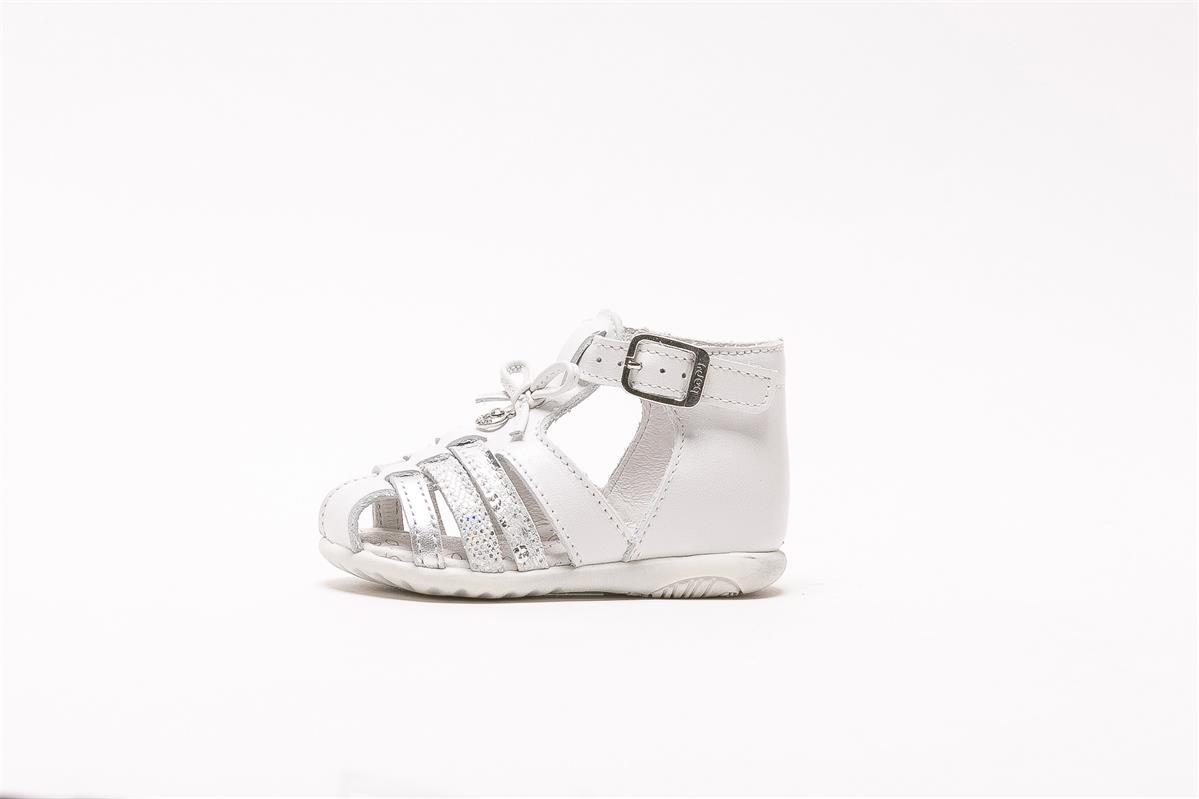 Sandale en cuir premiers pas Zibel blanc