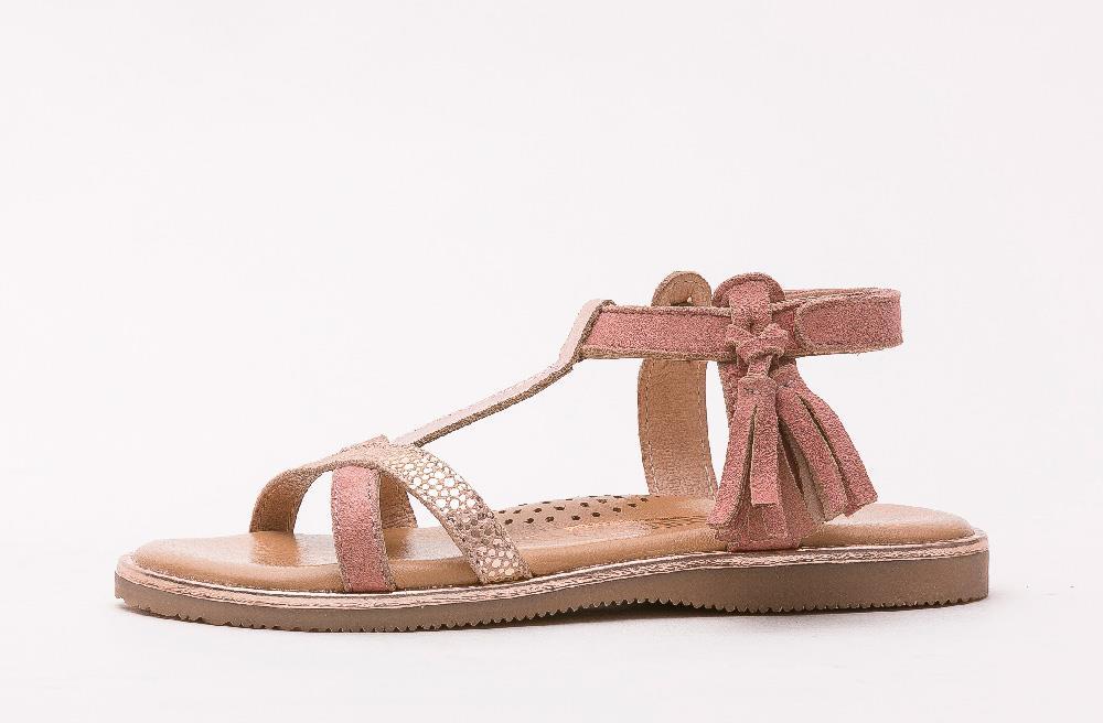 Sandale en cuir Firmini rose