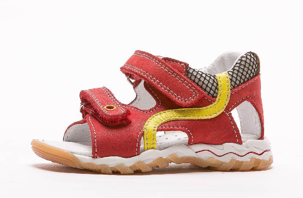 sandale-enfant-en-cuir-bopy-blito-rouge