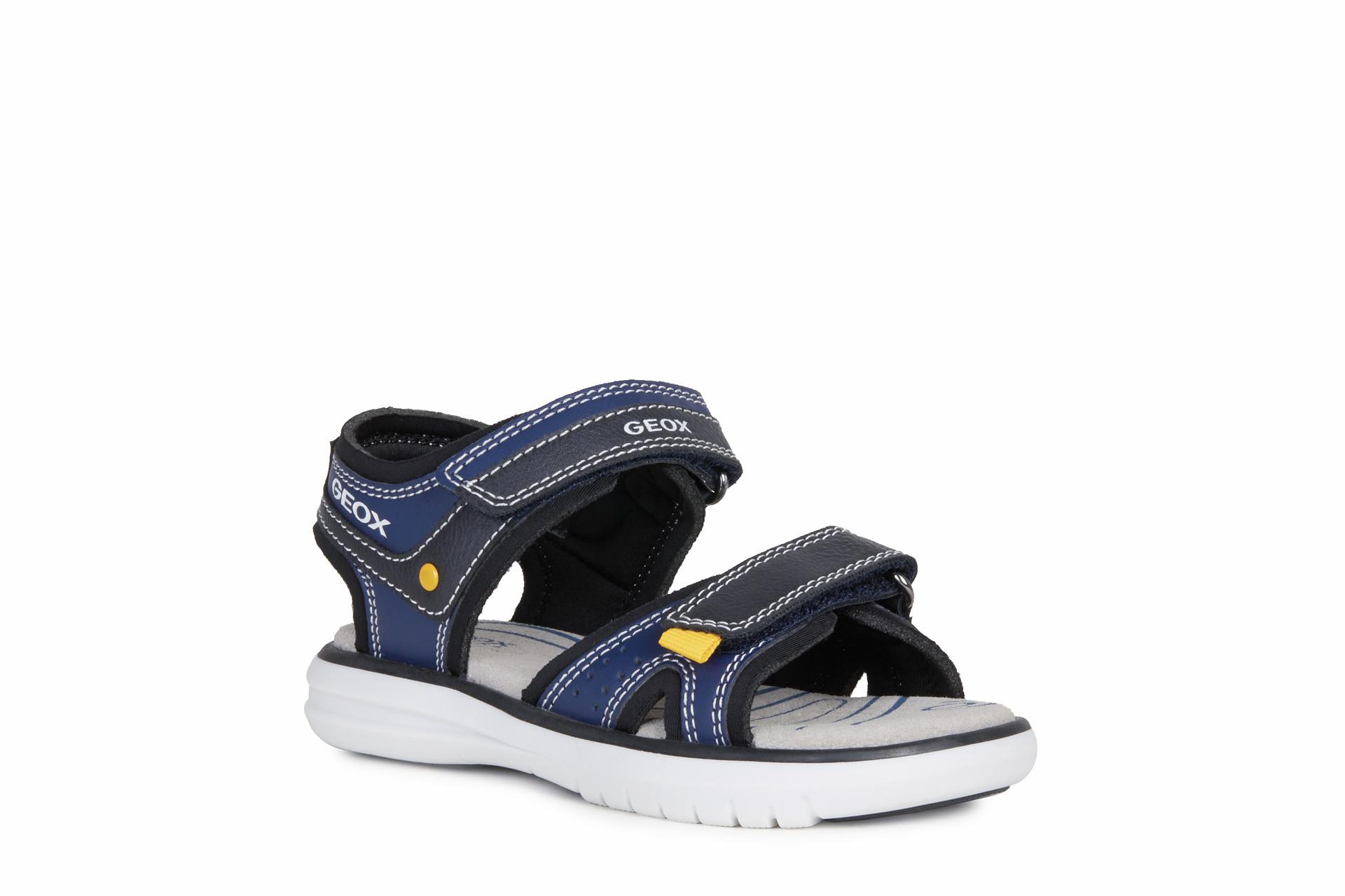 Sandale pour garçon Geox Maratea J15DRA C0567 navy/yellow