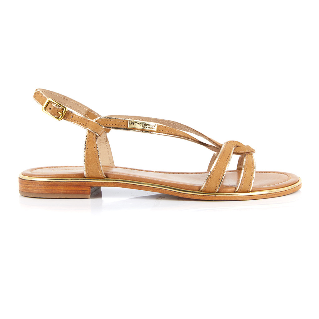 Sandale en cuir Les Tropéziennes Halia miel