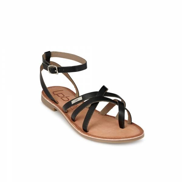 Sandale en cuir LPB Beryle noir