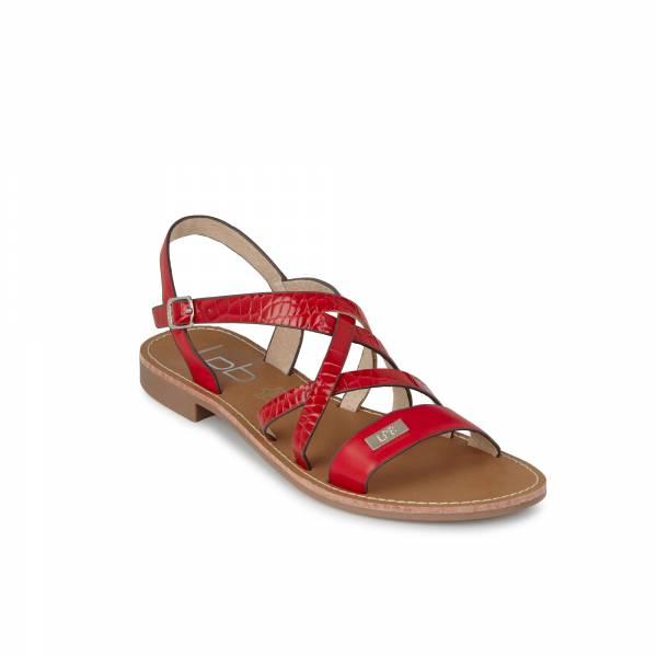 Sandale LPB Bianka rouge croco