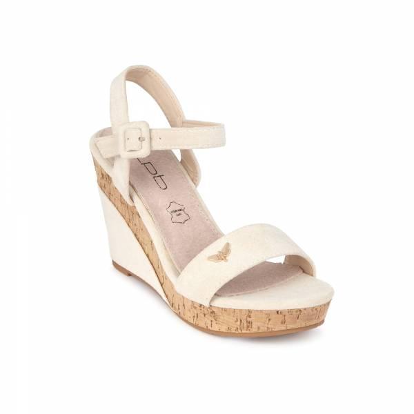 Sandale compensée LPB Mia beige