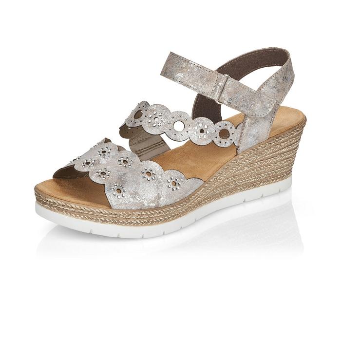 Sandale compensée Rieker 619C5-90