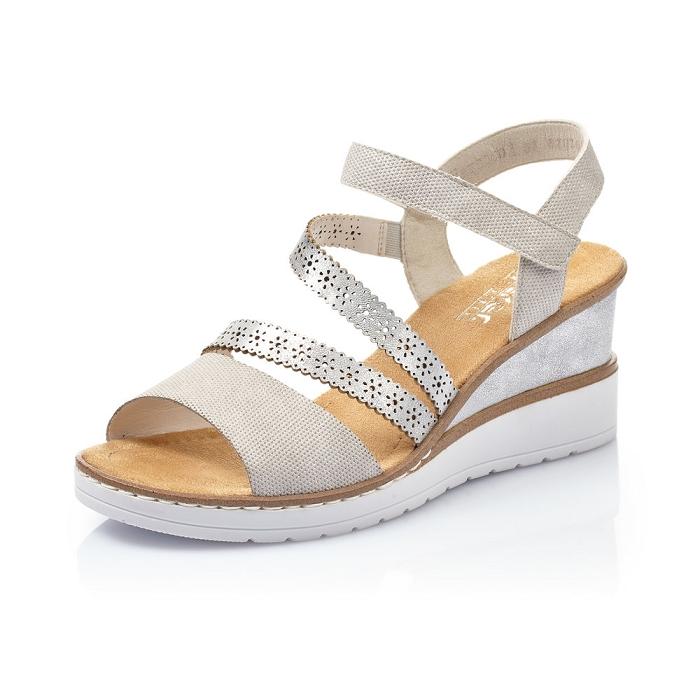 Sandale compensée Rieker V3551-60
