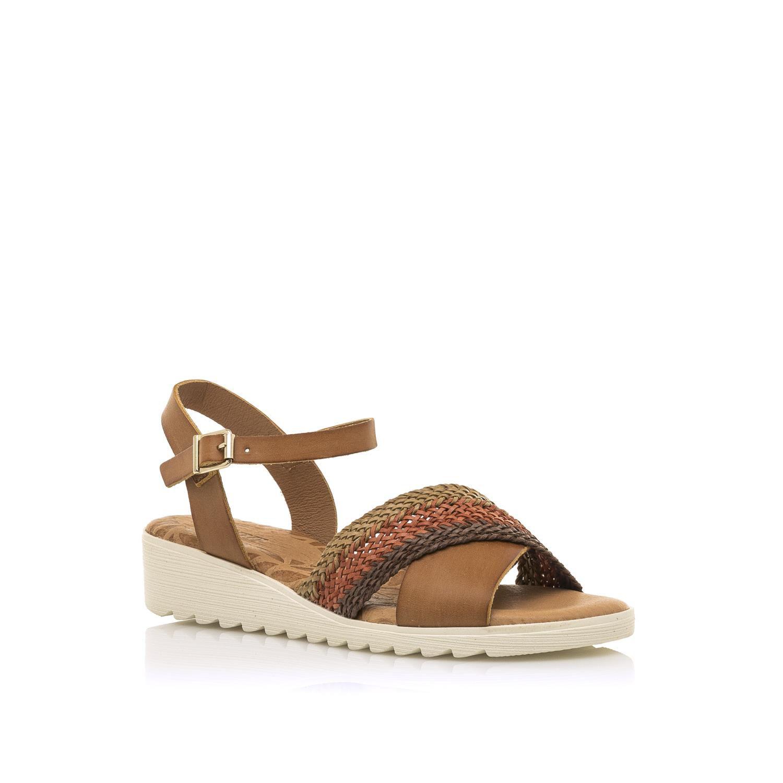 Sandale compensée en cuir MTNG 50968 c51529