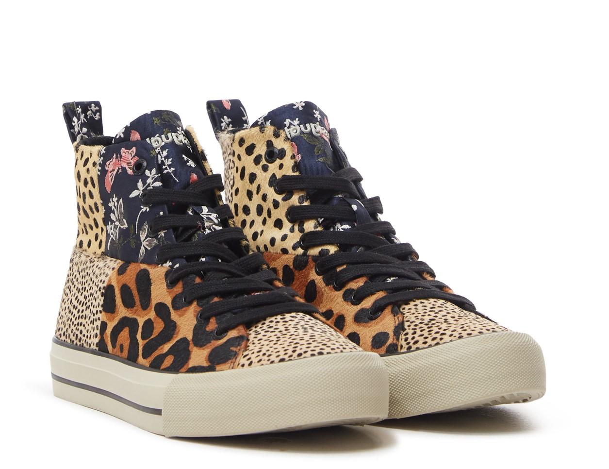 Sneakers montantes Desigual Patch Fourrure 21WSKL03 6007