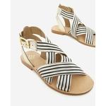 sandale-plate-pour-femme-san-marina-INDIFI_NOIR-BLANC_4