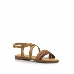 sandale-plate-pour-femme-MTNG-50967-C51529-marron_2