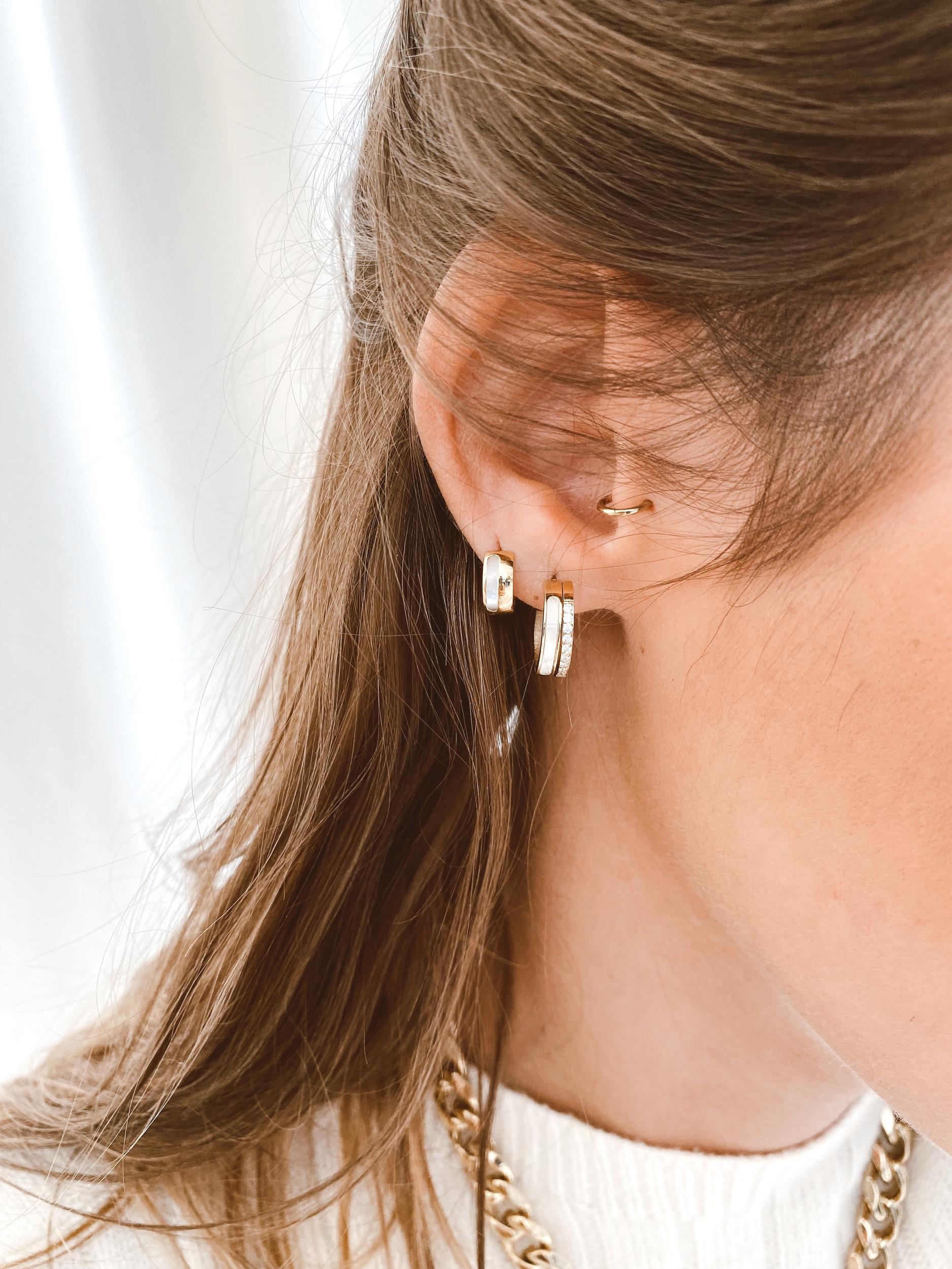 Boucles d'oreilles Chic acier doré - Zag Bijoux